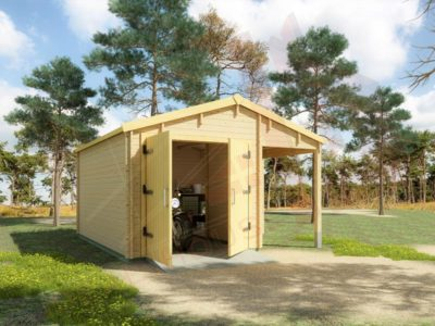 wooden garage dexa 5055